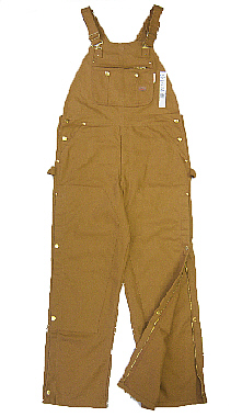 (BOBF1217) BROWN DUCK FIRE RETARD BIB OVERALL