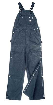 (BODF1219) BLUE DENIM FIRE RETARDANT BIB OVERALL