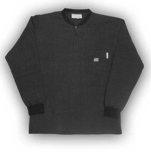 (BTF457) LONG SLEEVE 100% COTTON BLACK
