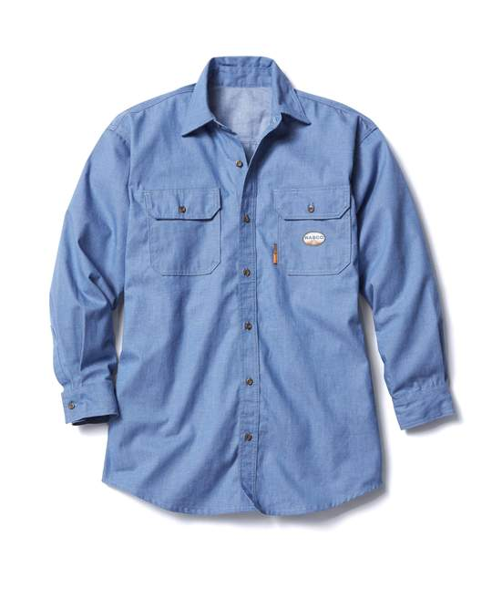 (FR0915/CBFR703) Chambray FR Uniform Shirt 6oz