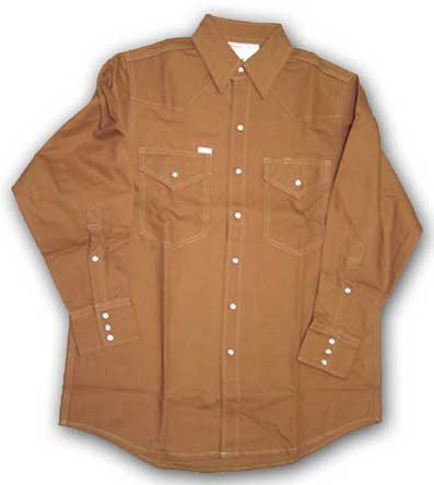 (DDF1008) Brown Duck Fire Retardant Shirt (10 OZ)