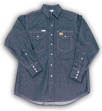 (DFR1210) Blue Denim Fire Retardant Shirt (11.5 OZ)
