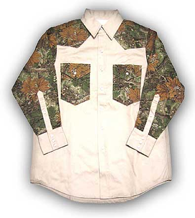 (FKC2004) KHAKI-CAMO Fire Retardant Shirt (10 OZ)