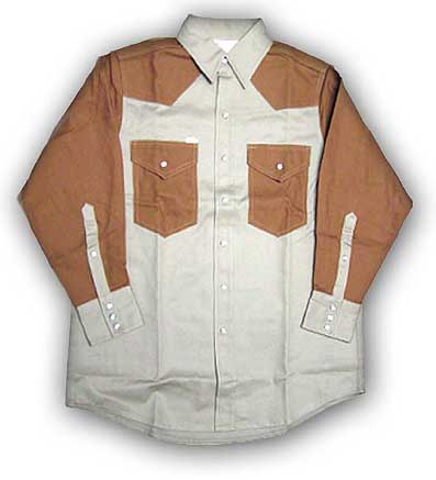 (FKD2001) KHAKI-DUCK Fire Retardant Shirt (10 OZ)
