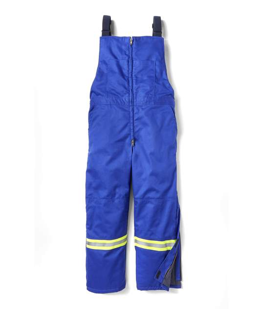 FR2706RB INSULATED BIB OVERALL W/ REFLECTIVE TRIM - ROYAL BLUE