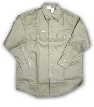 (FR750) Khaki Fire Retardant Shirt (7.5 OZ)
