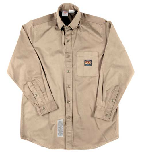 (FRB757) KHAKI FR DRESS SHIRT (7.5 OZ)