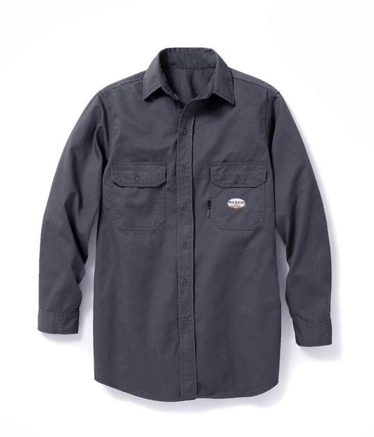 (FR1303GY/GFB750) Gray FR Uniform Shirt 7.5oz