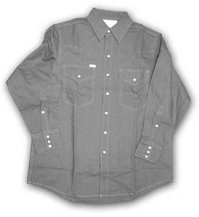 (GFR1014) gray Fire Retardant Shirt (10 OZ)