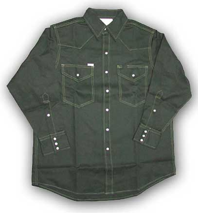 (GGF1009) Green Fire Retardant Shirt (10 OZ)