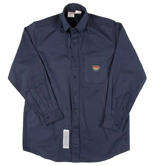 (NFB761) NAVY FR DRESS SHIRT (7.5 OZ)