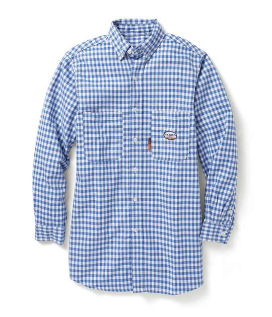 (FR0824BL/PLB762) Blue Plaid FR Shirt (7.7 OZ)