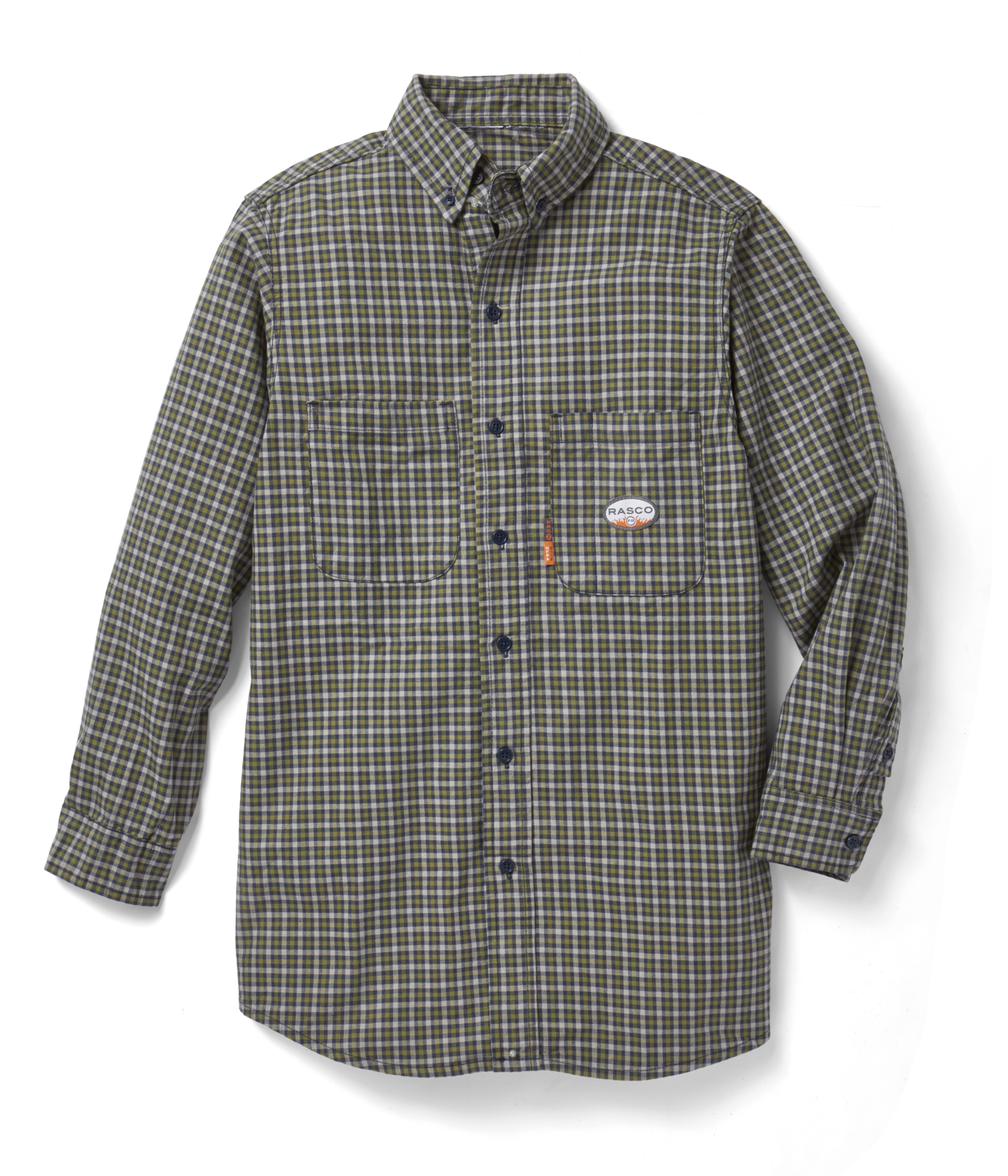 (FR0824GN/PLG755) Green Plaid FR Shirt (7.7 OZ)