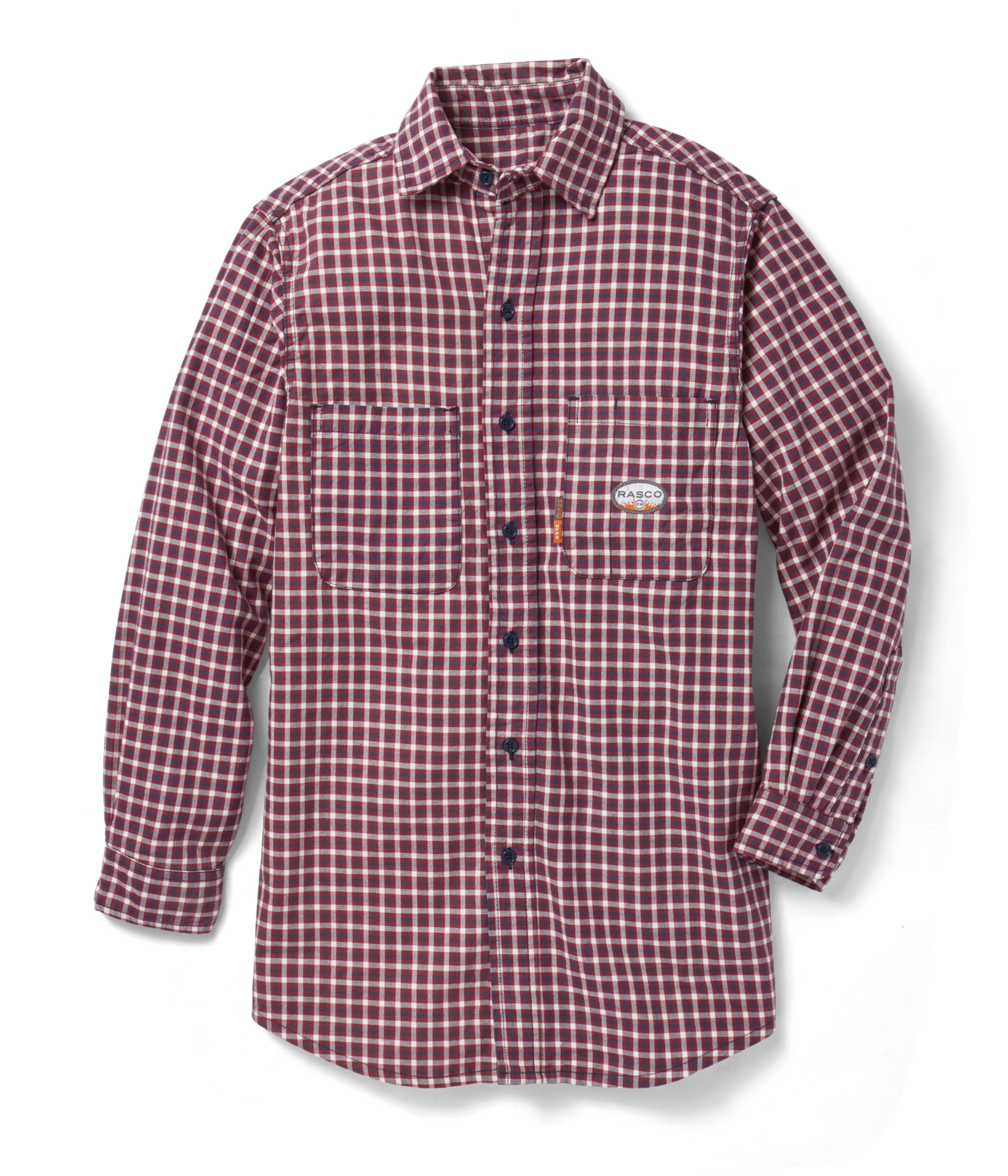 (FR0824RD/PLR756) Red Plaid FR Shirt (7.7 OZ)