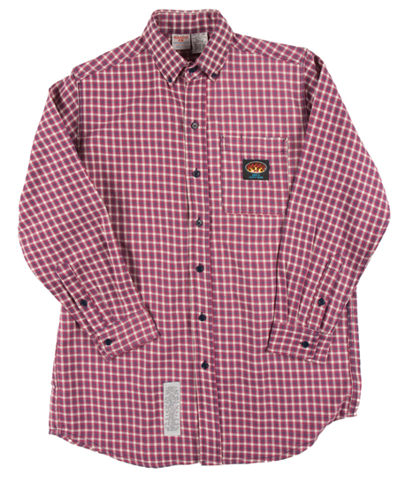 (PLR756) RED PLAID FR DRESS SHIRT (7.5 OZ)